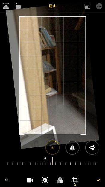 iOS 13 写真アプリ No - 1:動画の傾き補正が可能に!