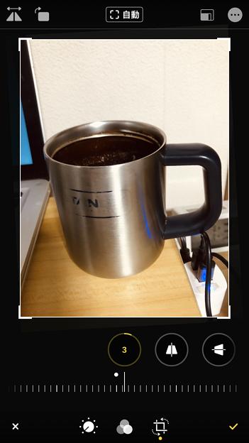 iOS 13 写真アプリ No - 10:写真の傾き補正