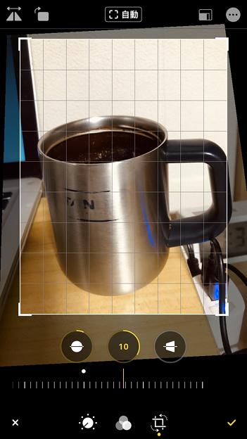 iOS 13 写真アプリ No - 12:写真の歪み補正が可能に!