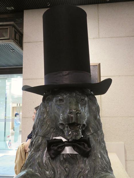 シルクハットをかぶっていた名古屋三越栄店のライオン像 - 2