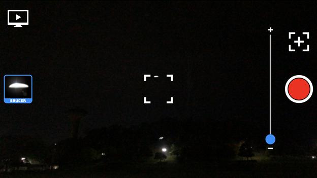 UFO撮影のニセ動画が作れるアプリ「UFO Video Camera」 - 1