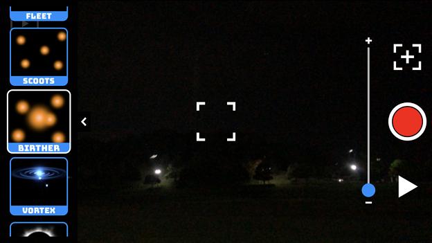 UFO撮影のニセ動画が作れるアプリ「UFO Video Camera」 - 2:表示するUFOを選択