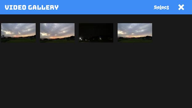 UFO撮影のニセ動画が作れるアプリ「UFO Video Camera」 - 3:撮影後の映像が保存されるギャラリー