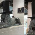 シルクハットをかぶっていた名古屋三越栄店のライオン像 - 4