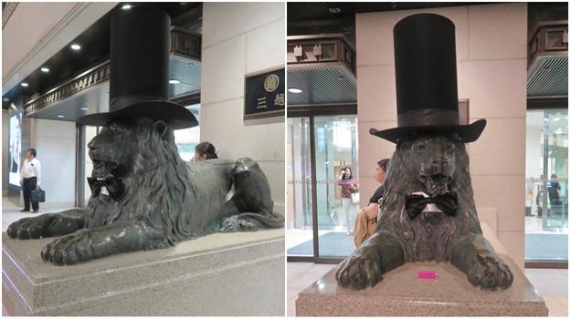 シルクハットをかぶっていた名古屋三越栄店のライオン像 - 5