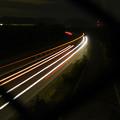 Photos: 中央道を走る車の光跡(SX730HSで撮影、6秒、F4.5、ISO 80)
