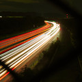 Photos: 中央道を走る車の光跡(SX730HSで撮影、8秒、F4.5、ISO 80)- 1