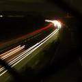Photos: 中央道を走る車の光跡(SX730HSで撮影、8秒、F4.5、ISO 80)- 2