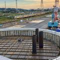 神領車両基地近くに建設されてる丸い建造物(2019年10月6日) - 2