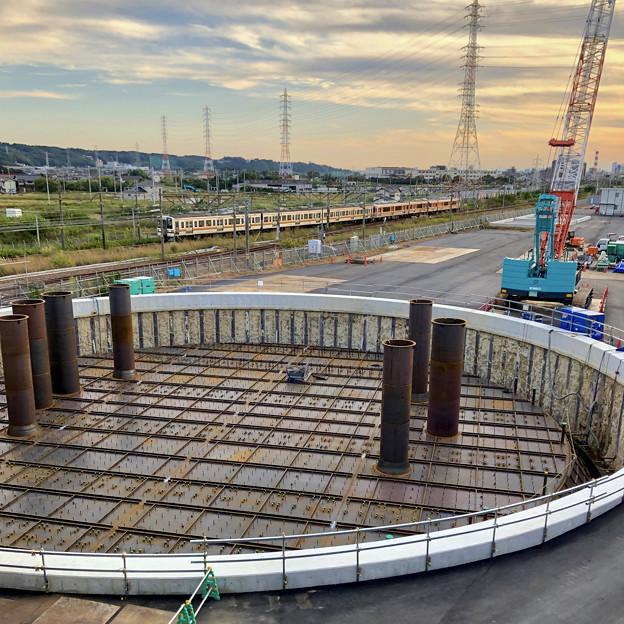神領車両基地近くに建設されてる丸い建造物(2019年10月6日) - 3