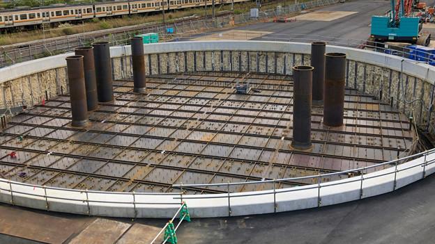 神領車両基地近くに建設されてる丸い建造物(2019年10月6日) - 5