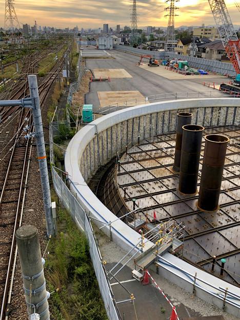 神領車両基地近くに建設されてる丸い建造物(2019年10月6日) - 10