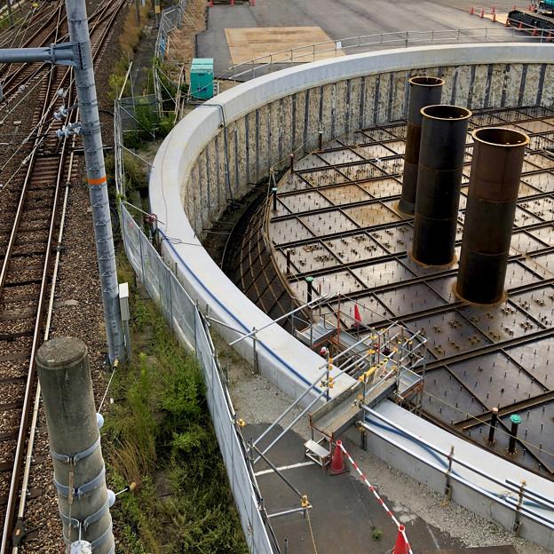 神領車両基地近くに建設されてる丸い建造物(2019年10月6日) - 11