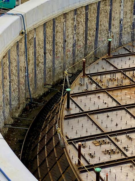 神領車両基地近くに建設されてる丸い建造物(2019年10月6日) - 12