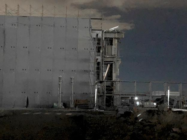 解体工事中の旧・ザ・モール春日井(2019年10月8日):ステンドグラスの東側部分が撤去 - 2