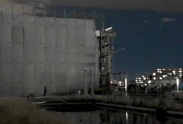 解体工事中の旧・ザ・モール春日井(2019年10月8日):ステンドグラスの東側部分が撤去 - 6
