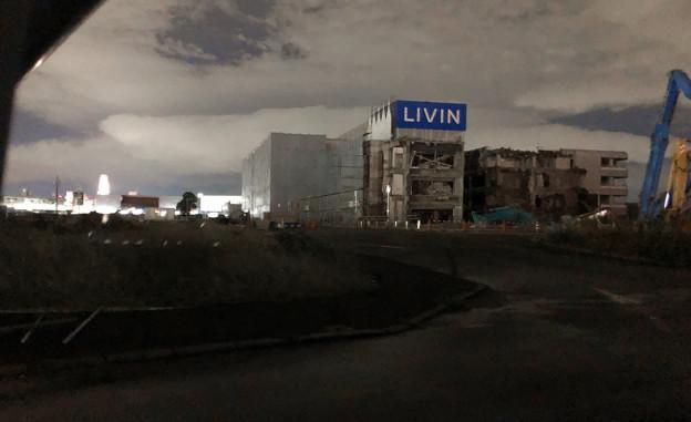 解体工事中の旧・ザ・モール春日井(2019年10月8日):ステンドグラスの東側部分が撤去 - 3