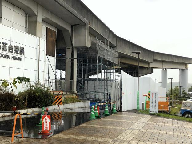 桃花台東駅周辺撤去工事(2019年10月14日):ループ線の撤去も開始? - 4