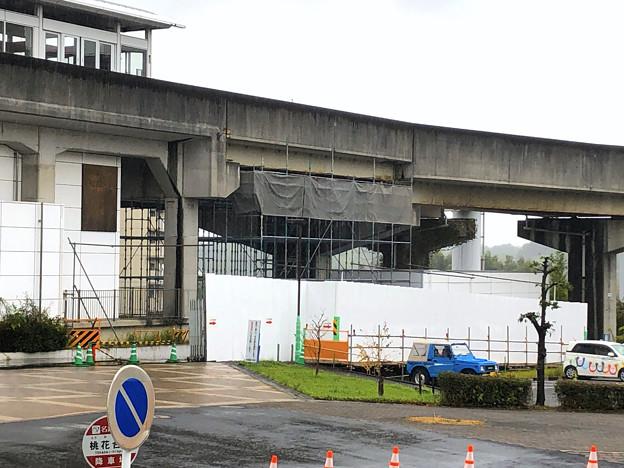 桃花台東駅周辺撤去工事(2019年10月14日):ループ線の撤去も開始? - 10