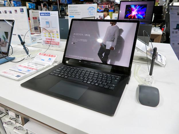 先行展示されてた「Surfacae Laptop 3 15インチ」 - 1