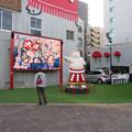 Photos: 大須矢場とん横に豚のマスコット像と放送中のアニメ表示 - 6