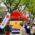 Photos: 名古屋まつり 2019:濃姫の乗るフラワーカー上に巨大な赤い扇子 - 2