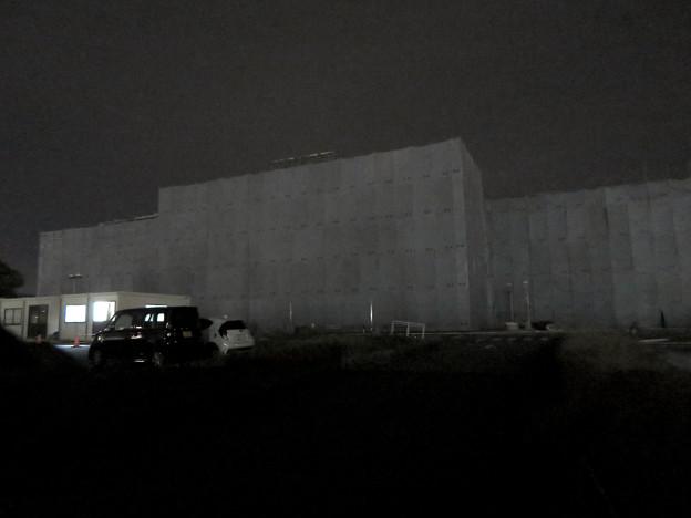 解体工事中の旧ザ・モール春日井(2019年10月23日) - 10:「LIVIN」の文字が見えなくなる