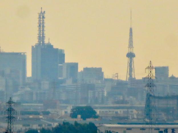 すいとぴあ江南から見たNTTドコモ名古屋ビルと名古屋テレビ塔 - 2
