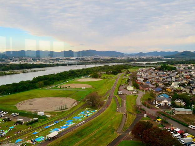 すいとぴあ江南スカイルームから見た景色 - 9:各務原・犬山方面