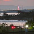 Photos: 木曽川沿いから見えたオアシスパーク大観覧車のイルミネーション - 3