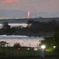 Photos: 木曽川沿いから見えたオアシスパーク大観覧車のイルミネーション - 4