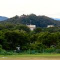 木曽川沿い(江南市側)から見た前渡不動山の上にある佛眼院 - 3