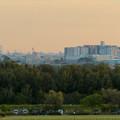 前渡不動山にある佛眼院から見た景色 - 2:すいとぴあ江南と名駅ビル群