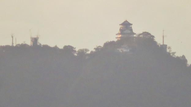 前渡不動山にある佛眼院から見た景色 - 15:山頂から見た岐阜城・金華山