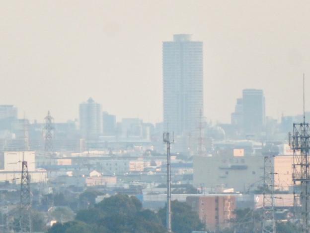 前渡不動山にある佛眼院から見た景色 - 24:ザ・シーン城北とアンビックス志賀ストリートタワー