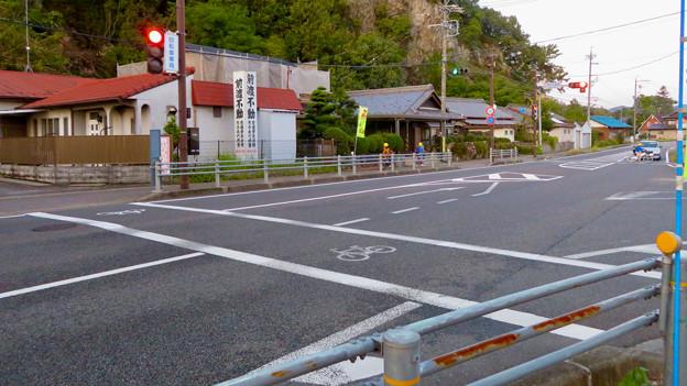 珍しい自転車専用の信号機(各務原市 浄水公園東交差点)- 1