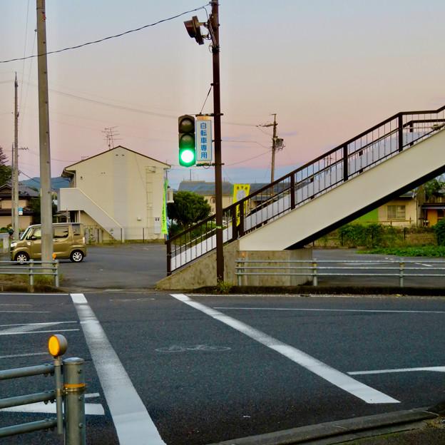 珍しい自転車専用の信号機(各務原市 浄水公園東交差点)- 3