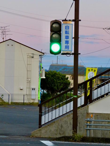 珍しい自転車専用の信号機(各務原市 浄水公園東交差点)- 4