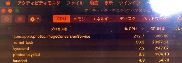 macOS Catalinaの写真アプリ:調整のコピペ繰り返したらCPU使用率が200%超え!?