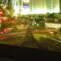 名駅通を走る車の光跡(SX730HSで撮影、F7.1、5秒、ISO80)- 2