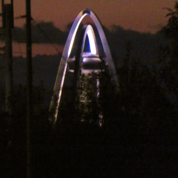 各務原市内から見たツインアーチ138 - 4:「A」みたいに見えたツインアーチ