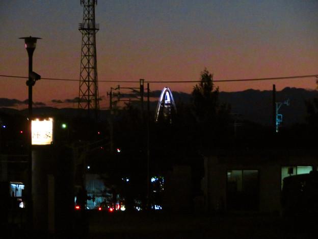 各務原市内から見たツインアーチ138 - 6:「A」みたいに見えたツインアーチ