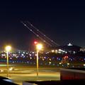 飛び立った飛行機の光の奇跡(SX730HSで撮影、6秒、F4.5、ISO 80)- 1