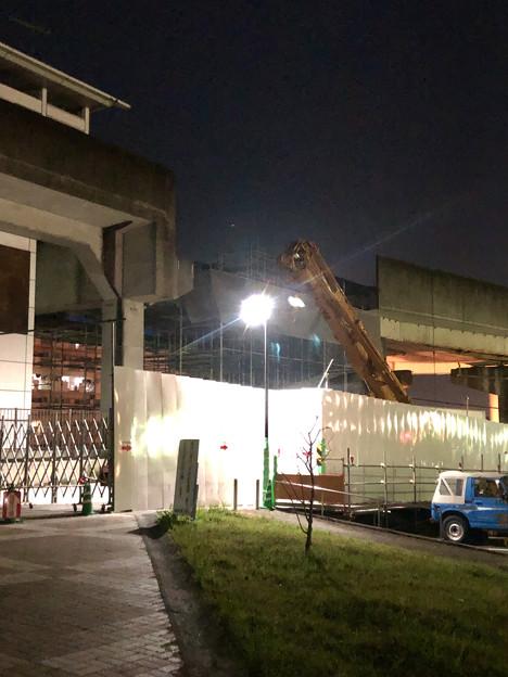 桃花台線の桃花台東駅周辺撤去工事(2019年11月7日)- 1