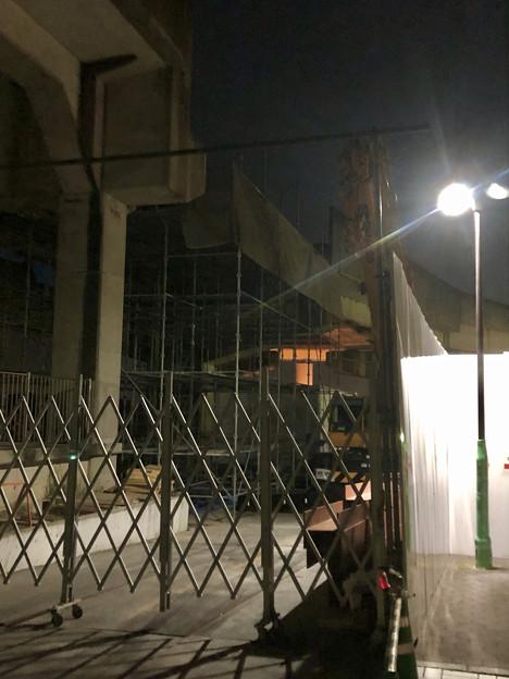 桃花台線の桃花台東駅周辺撤去工事(2019年11月7日)- 2