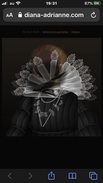 CSSで描かれた肖像画、iOS版Safariではちゃんと描画できず…