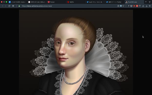 CSSで描かれた肖像画、Opera 64でもきちんと描画される