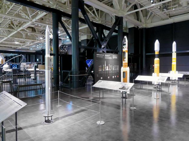 岐阜かかみがはら航空宇宙博物館 No - 147:日本のロケット関連の模型の展示