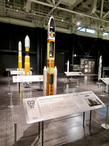 岐阜かかみがはら航空宇宙博物館 No - 150:H2ロケットの20分の1模型