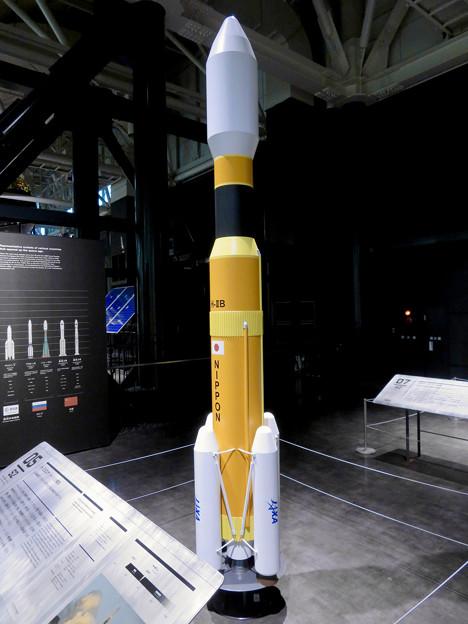 岐阜かかみがはら航空宇宙博物館 No - 156:H2Bロケットの20分の1模型
